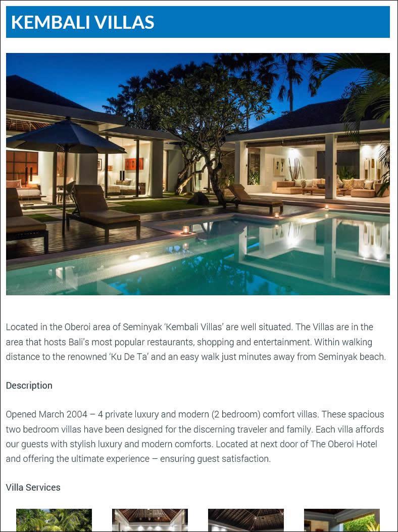 Villa Bali Biz